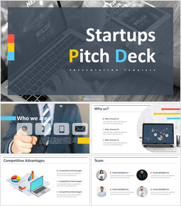 Animierte Vorlagen - Startups Pitch Deck Powerpoint-Präsentation_00
