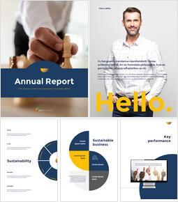 연례 보고서 클린 디자인 Google 피피티 템플릿_00