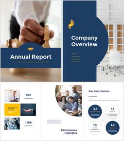 연례 보고서 클린 디자인 파워포인트 템플릿_00