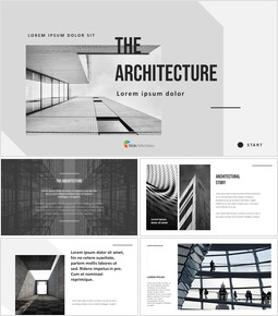 Architecture Simple PowerPoint Template Design_00