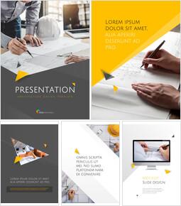 건축 세로형 디자인 Google 슬라이드 테마 & 템플릿_00