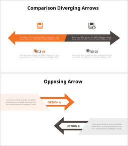 Arrows Comparison Infographic Diagram_10 slides