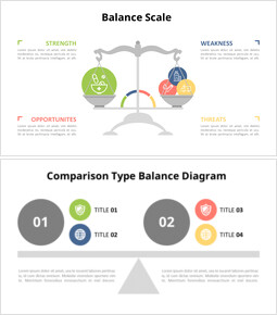 Balance Scale Infographic Diagram_6 slides