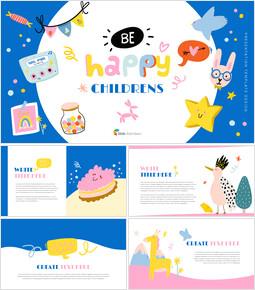 Be Happy Childrens Google Slides mac_00