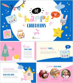 Be Happy Childrens PowerPoint Business Templates_00