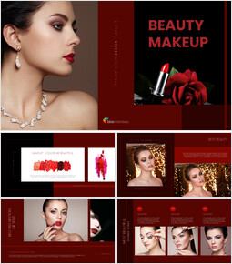 Beauty Makeup Google Slides Presentation Templates_40 slides