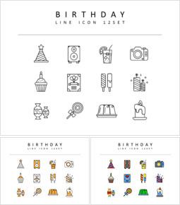 Birthday Icons Vectors_00