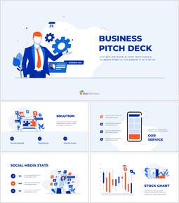 비즈니스 피치덱 디자인 PPT 편집이 쉬운 구글 슬라이드 템플릿_00