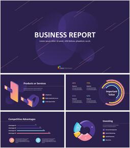 사업 보고서 디자인 프레젠테이션을 위한 구글슬라이드 템플릿_00