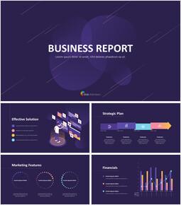 사업 보고서 디자인 마케팅용 프레젠테이션 PPT_00