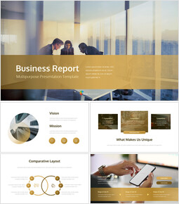 Business Report Easy PPT Template Animated Slides_00
