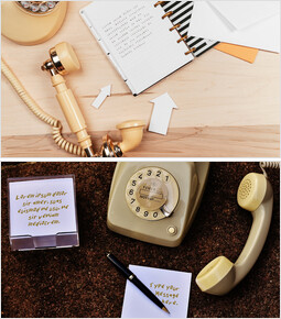 Classic telephone and Memo Mockup PPT Slides_00