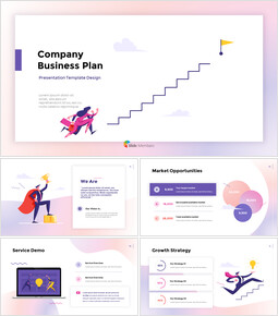 Company Business Plan Report animated PowerPoint Templates_00
