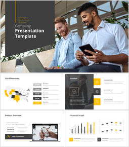 Company Presentation Pitch Deck Animation PowerPoint Presentation Design_00