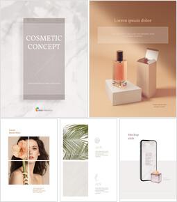 화장품 브랜드 컨셉 세로형 디자인 편집이 쉬운 Google 슬라이드_00