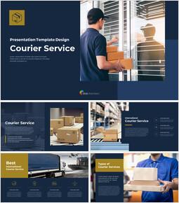Courier Service premium PowerPoint Templates_00
