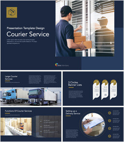 Courier Service Simple Keynote Template_00