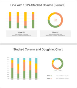 Doughnut with 100% Stacked Column Mix Chart_00