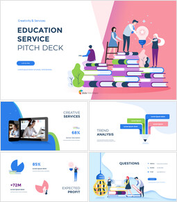 Education Service Pitch Deck Business plan PPT Templates_00