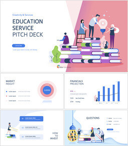 Education Service Pitch Deck Simple Keynote Template_00