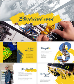 Electrical work Simple Presentation Google Slides Template_00