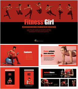 Fitness Girl Keynote Design_00