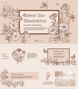 Flower Illustration Custom Google Slides_00