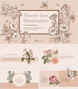 Flower Illustration premium PowerPoint Templates_00