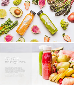 Fruit & Vegetable Juice Bottle PPT Templates_00