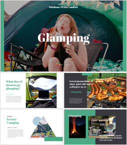 Glamping Theme PPT Templates_00