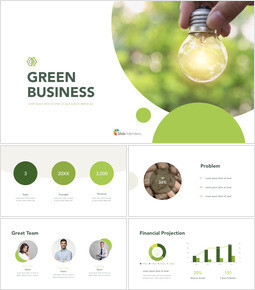 Green Business PPT Presentazione del keynote_00