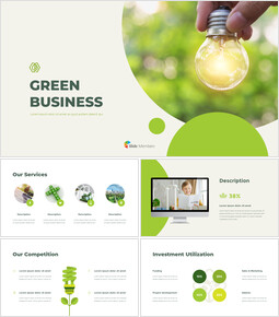 Green Business PPT Sommario PowerPoint_00
