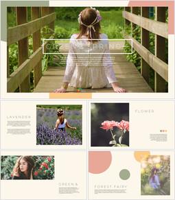 Verde e primavera Design semplice delle diapositive_00