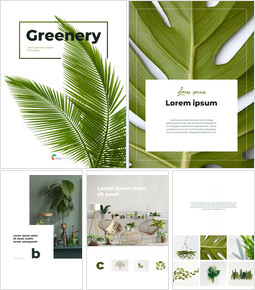 Greenery Vertical Slide Design Business Strategy PPT_00