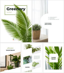 Greenery Vertical Slide Design Google PowerPoint_00