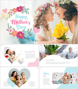 Happy Mother\'s Day PPT Background_00