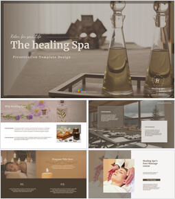Healing Spa Google Slides Interactive_41 slides