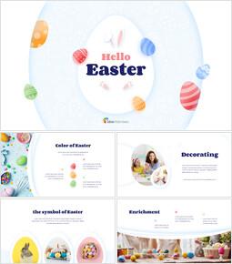 Hello Easter Simple Presentation Google Slides Template_00