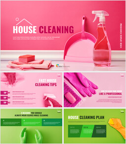 House Cleaning Easy Google Slides Template_41 slides
