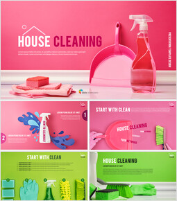 House Cleaning Simple Templates_41 slides