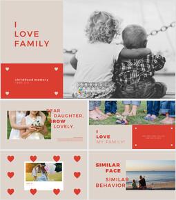 私は家族を愛してます プレゼンテーションPowerPointのテンプレートデザイン_40 slides