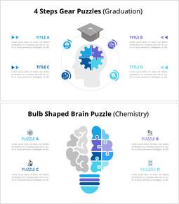 아이디어와 지식 퍼즐 Infographic 다이어그램_00