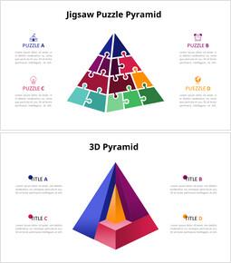 ジグソーパズルのピラミッドチャート図_12 slides