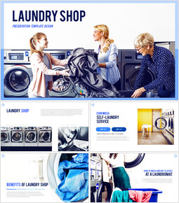 Laundry Shop PPT Background_00