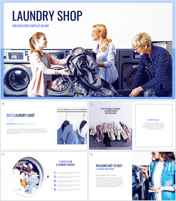 Laundry Shop Simple Google Slides Templates_00