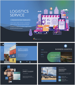 Logistics Service  Simple Keynote Template_29 slides