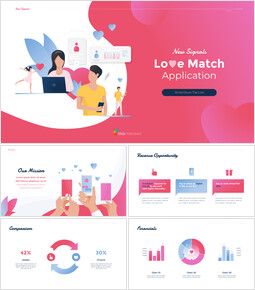 Diapositive animate del tema dell\'applicazione Love Match in PowerPoint_00