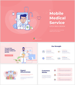 Mobile Medical Service Easy PowerPoint Design_15 slides