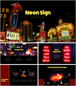 Neon Sign Simple PPT Templates_40 slides