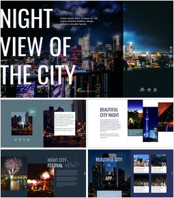 Night View of the City PowerPoint to Google Slides_41 slides